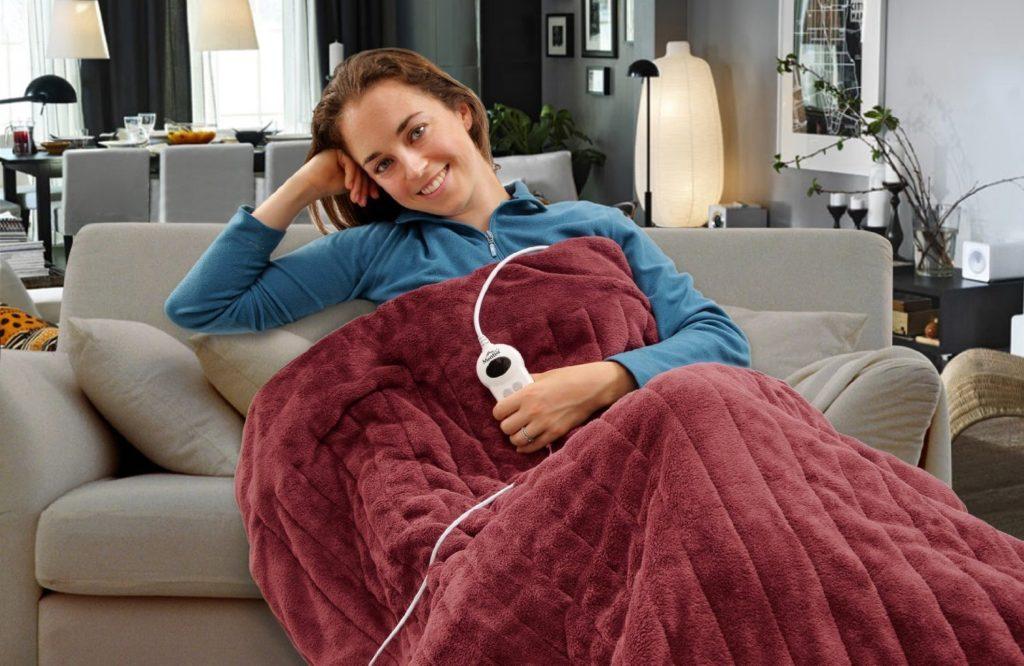 Heizdecke Test - gemütliche Stunden auf der Couch